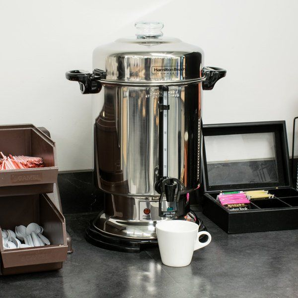 Hamilton Beach D50065 60 Cup Stainless Steel In 2020 Urn Coffee