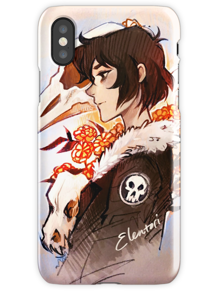 'Flowers for the Dead' iPhone Case by Elentori