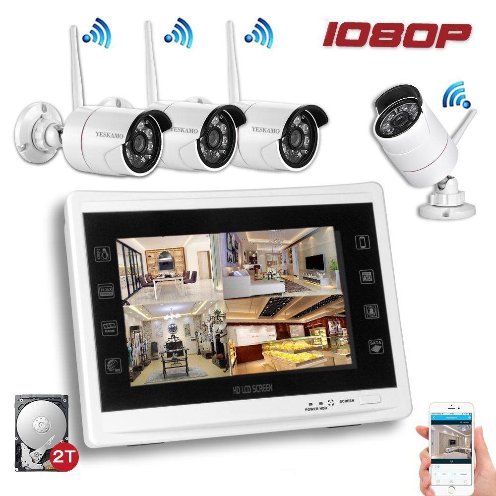 Amazon.com : YESKAM Wireless Security Camera System 1080P 12\