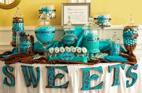 Turquoise Candy Buffet Ideas Candy Bar Wedding Candy Buffet Wedding Blue Candy Buffet