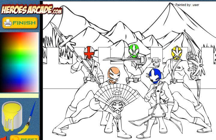 Power Rangers Cartoon Coloring Game Online