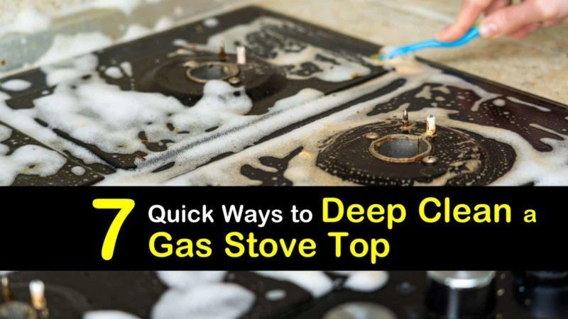 Find out how you can clean your gas stove top burners and