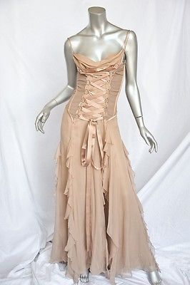 Versace Corset Long Gown Dress Museum Piece Red Carpet Hall Of Fame S M 42