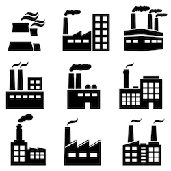 Stock Image Buildings Landmarks Plant Icon Factory Icon Industrial Buildings