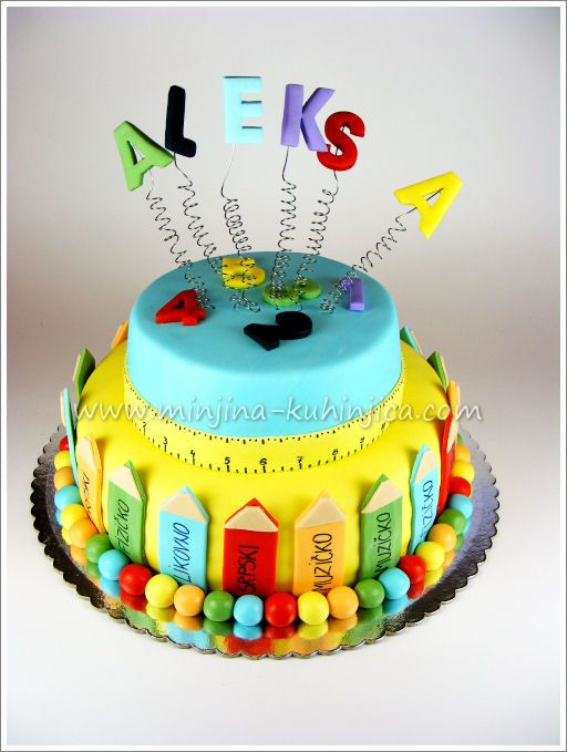 Colorful Back to School Cake