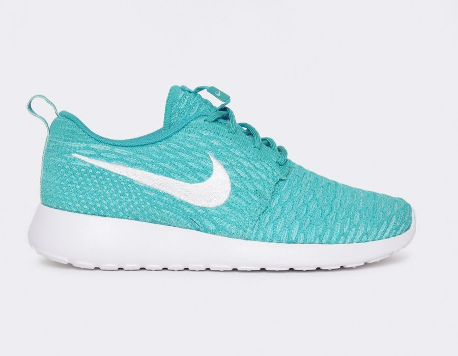 Flyknit Roshe Run WMNS pas cher - Turquoise