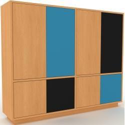 Highboard Buche – Elegantes Highboard: Türen in Buche – Hochwertige Materialien – 152 x 124 x 35 cm,