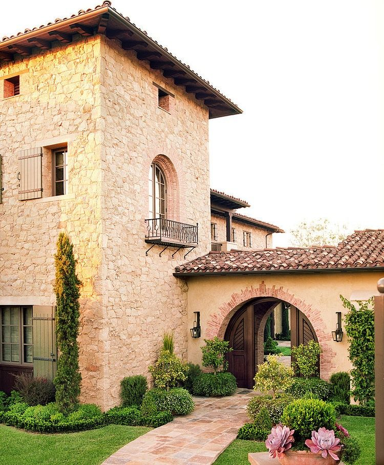 Mediterranean Tuscan Style Home House: Maison De Charme Rustique En Californie