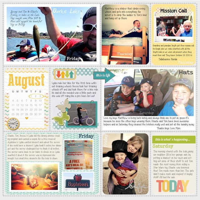 Project Life, August, lots of words, lots of journaling, still feels fresh