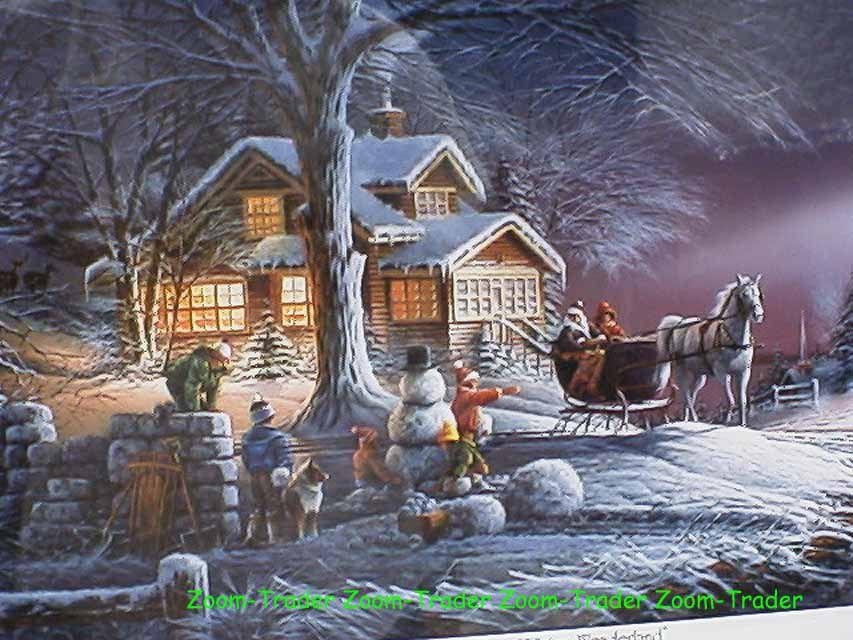 terry redlin winter wonderland signed framed print