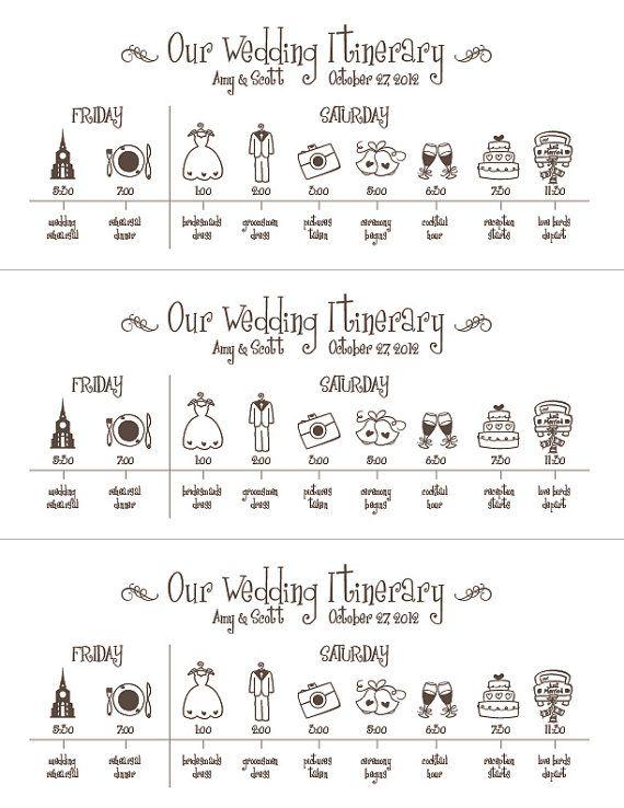 Hochzeit Timelinedruckbare Digitale Datei Zeitplan Von Pompcreative