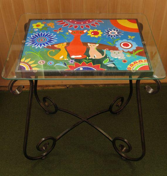 Boho Painted Coffee Table