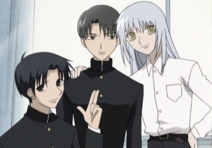 young hatori shigure and ayame fruits basket