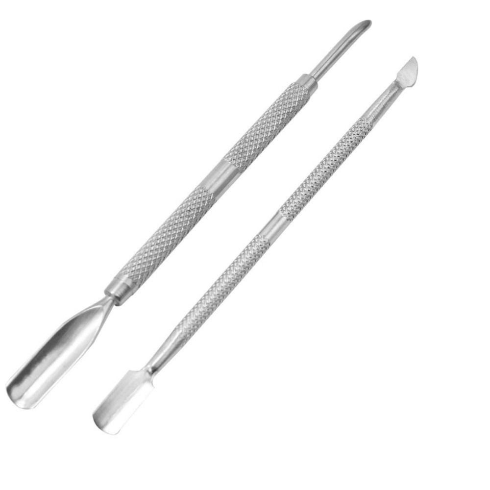 Thinkboo 2pcs/ Set Stainless Steel Nail Art Cuticle Pusher Spoon ...