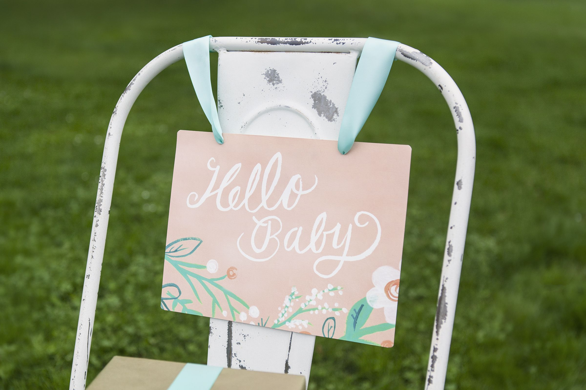 Pastel Baby Shower Decor for a Baby Girl from minted
