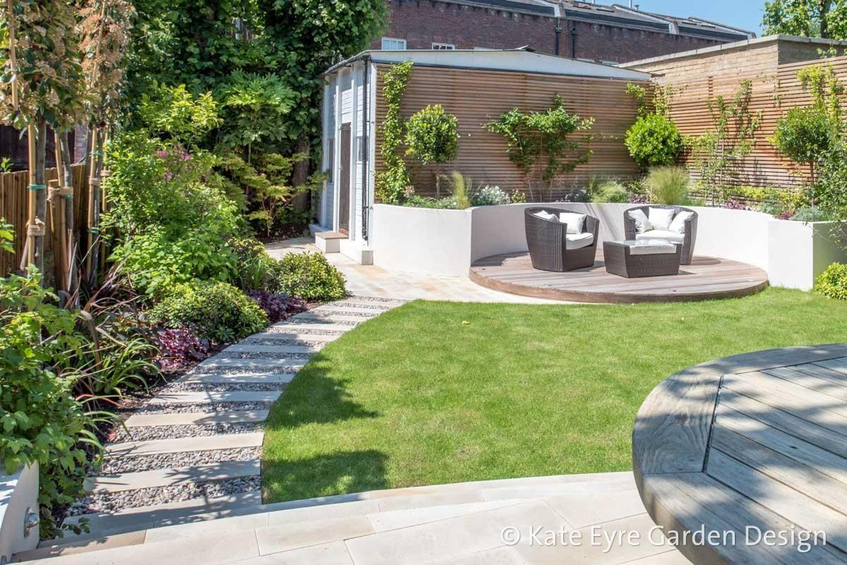Medium-sized back garden design in Wandsworth, 4 - View of ... on Medium Sized Backyard Ideas id=79659