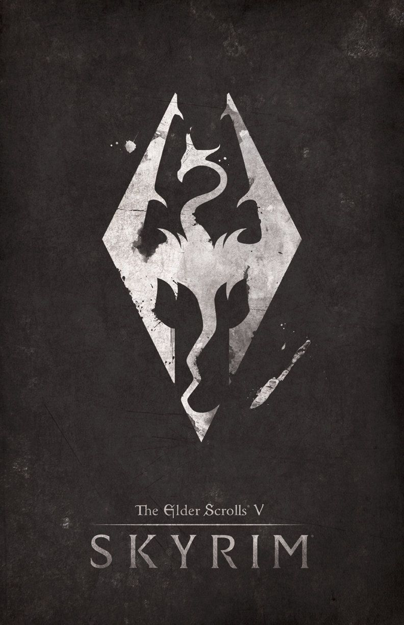 Video Game Poster Designs Created By Dylan West Posters Are Available For Purchase At The Artist S Etsy S Skyrim Wallpaper Elder Scrolls V Skyrim Skyrim Art