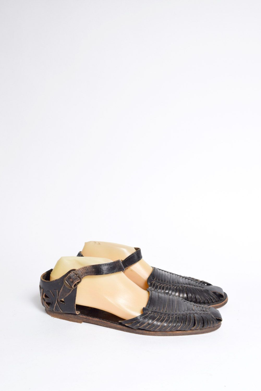 s vintage leather wicker sandals from by