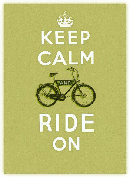 Keep Calm and RIDE ON! #diadelabicicleta especial para @laurapaonessa ;) @Laura Paonessa