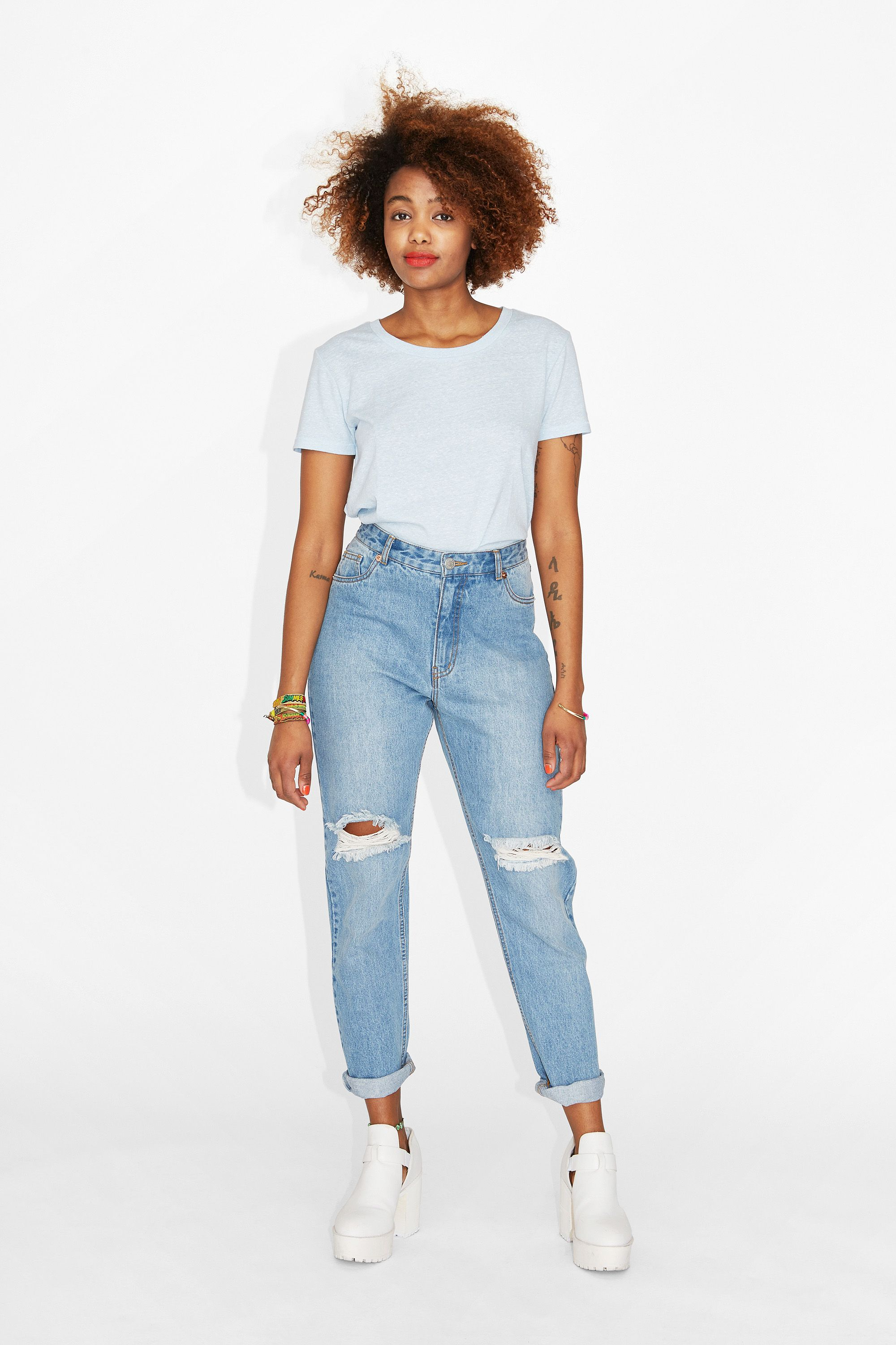 Monki relaxed high waisted jeans