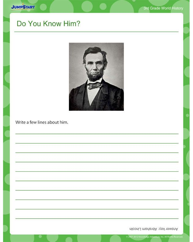 3rd Grade free 3rd grade social studies worksheets : Do You Know Him? - World History worksheets for 3rd Grade ...