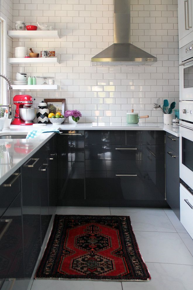 Make a Cold Kitchen Look Cozy with a Persian Rug!