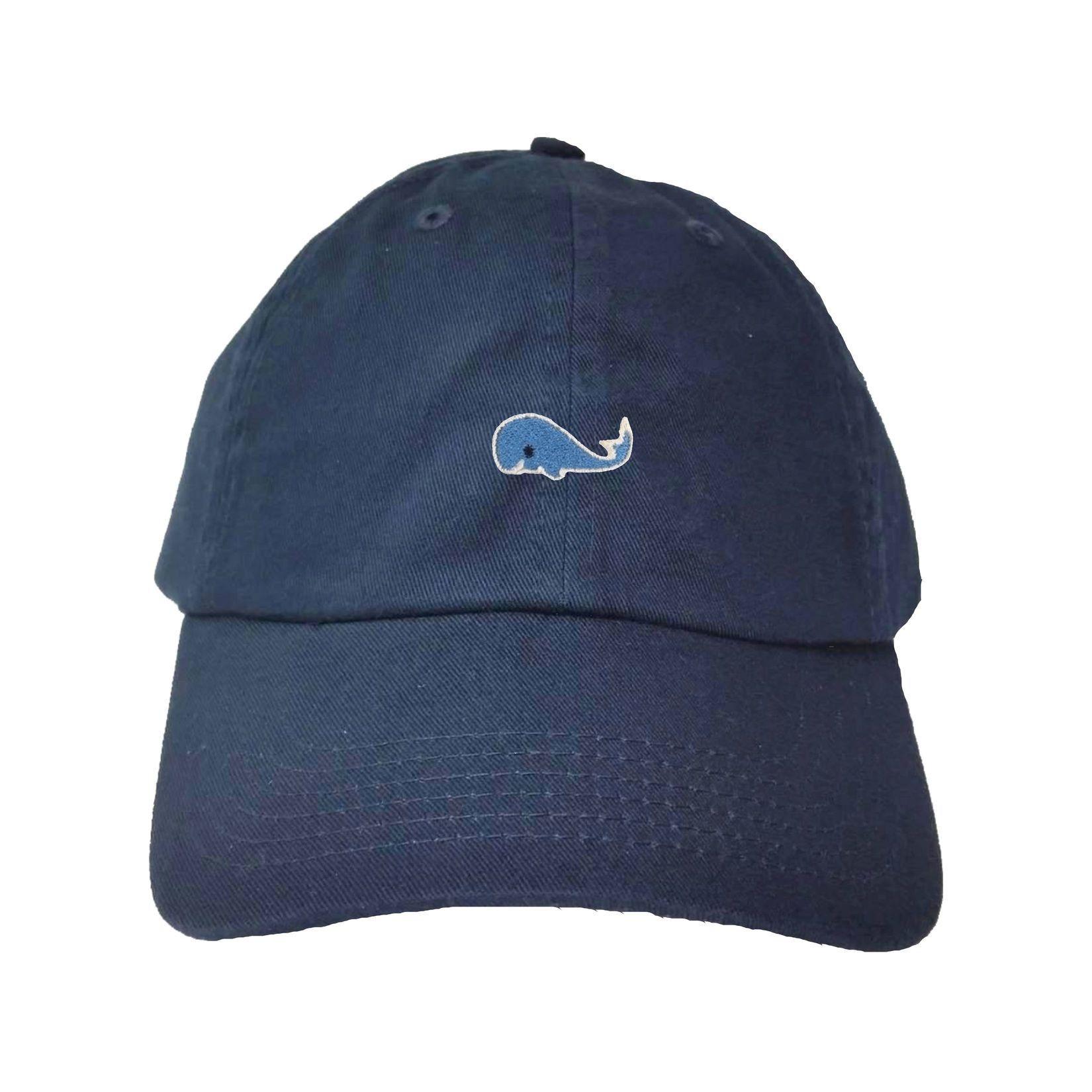 63c0d4c2c51c6 Adult Blue Whale Embroidered Dad Hat Cap