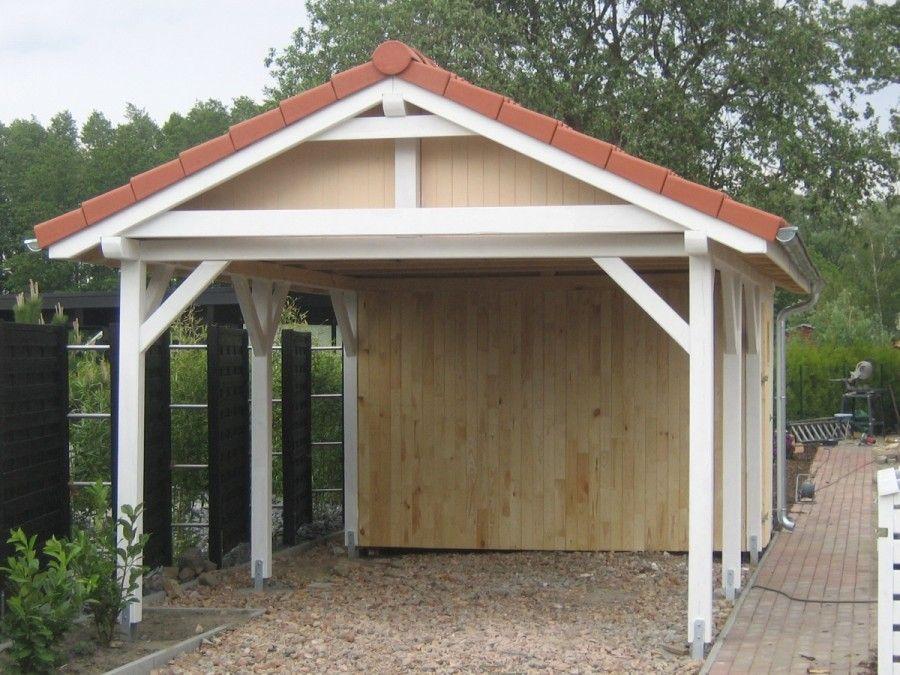 Dwuspadowe Holz Carport Doppelcarport Und Uberdachung Aus Polen Shed Storage Shed Outdoor Structures