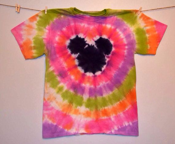 RTS  Girls Disney Inspired Mickey Tye Dye by TheFunkyCaterpillar, $18.00