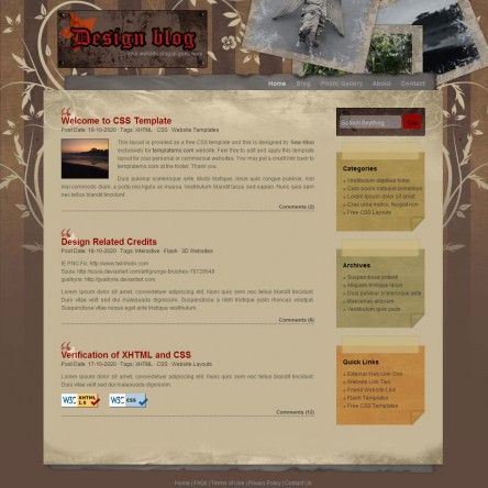 Free CSS Templates: Free CSS Website Templates Download | Css ...