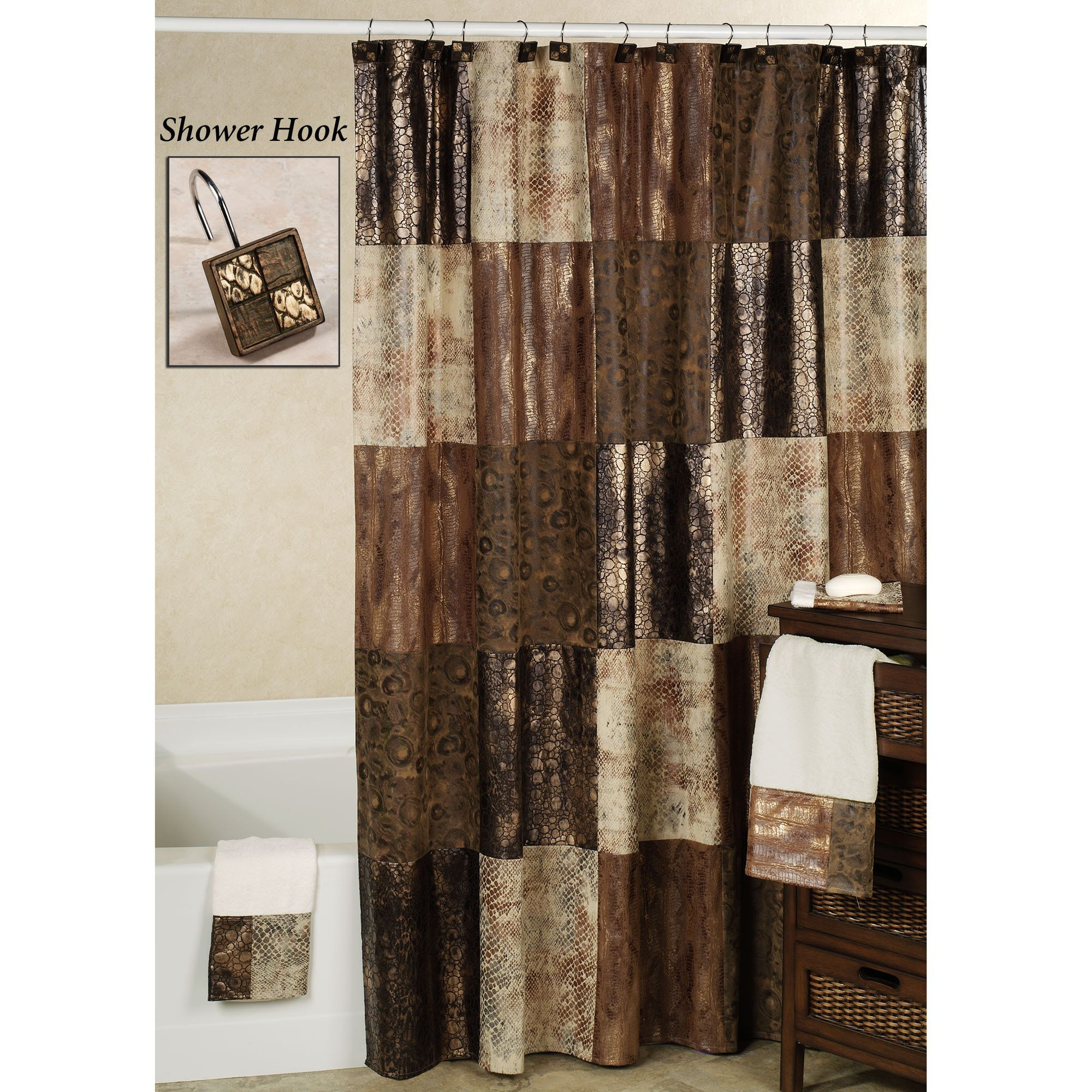 Gold And Copper Shower Curtains Gold Copper Find Manor Hill