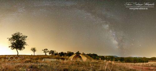 Hasta el infinito y mas allá by JavierSalazar  14mm Panoramic Trees Spain Canon Night EOS España Granada Andalucia Noche Dúrcal Cielo Milky Way 6d