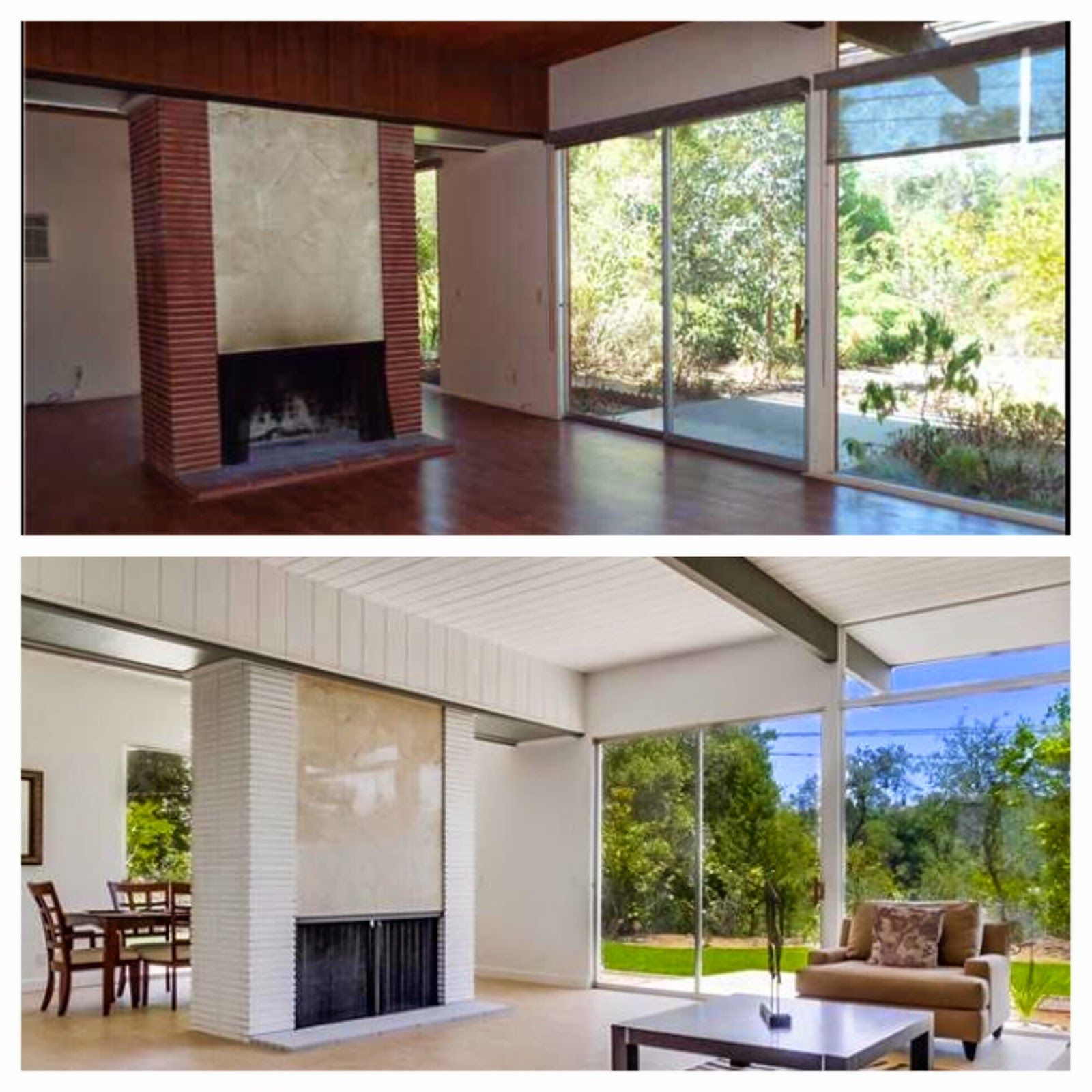 MidCentury Modern Home Makeover Before After Living room make