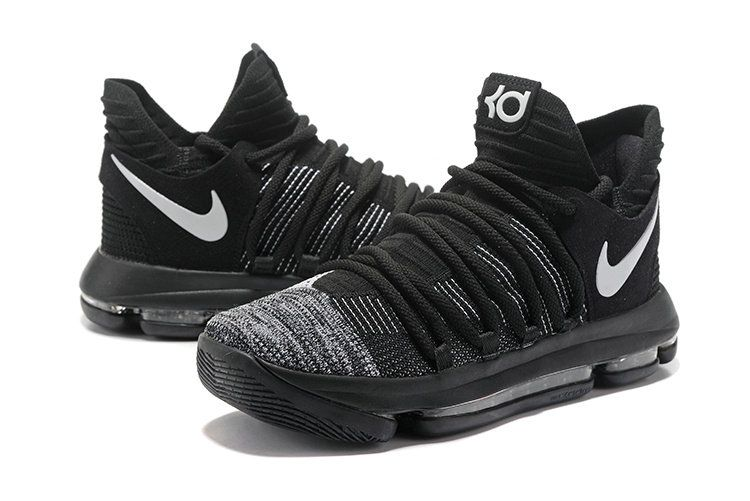 the latest 75374 1510c Kevin Durant Nike KD 10 Authentic Oreo Black White