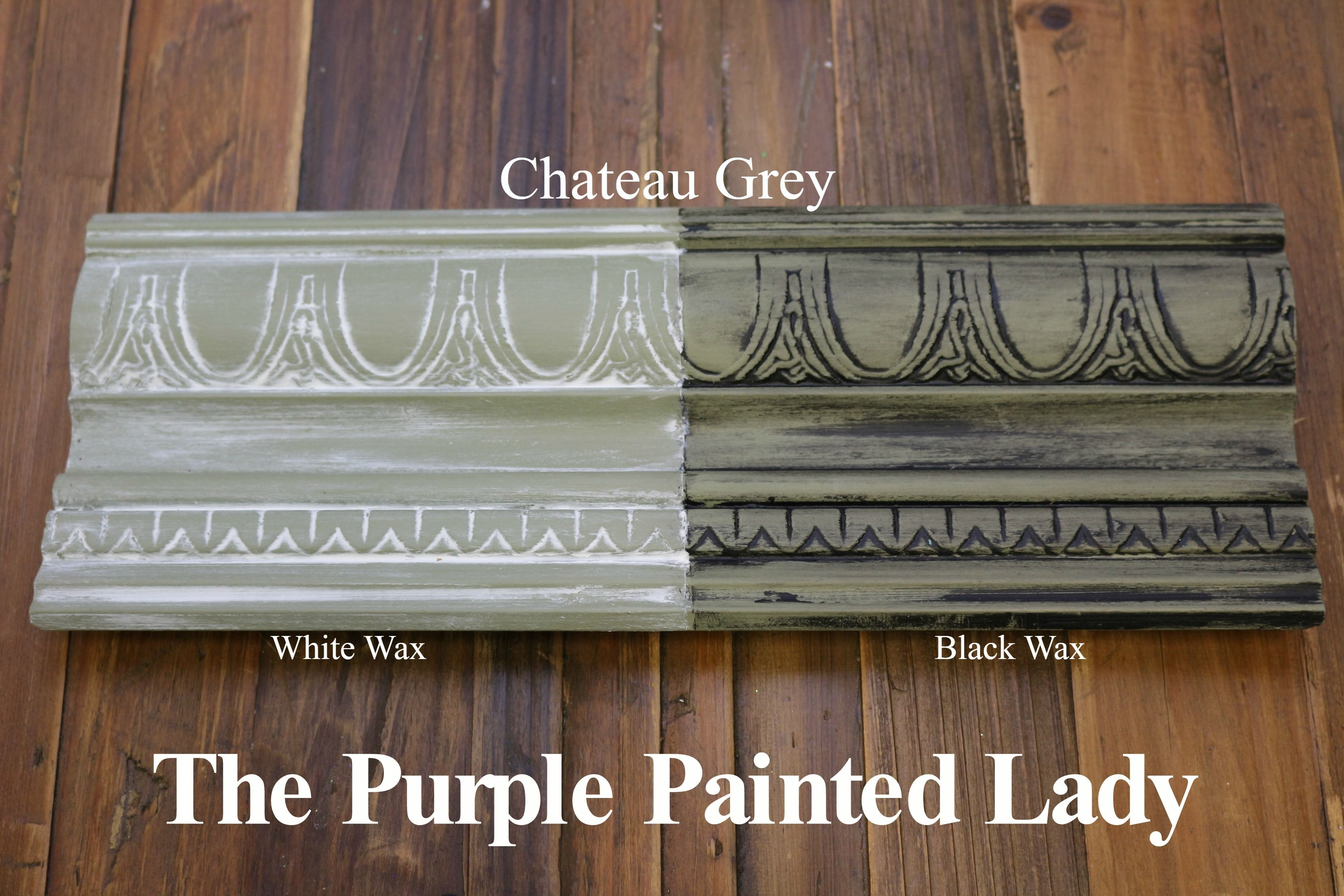 The Purple Painted Lady Two Coats Of Chateau Grey Chalk