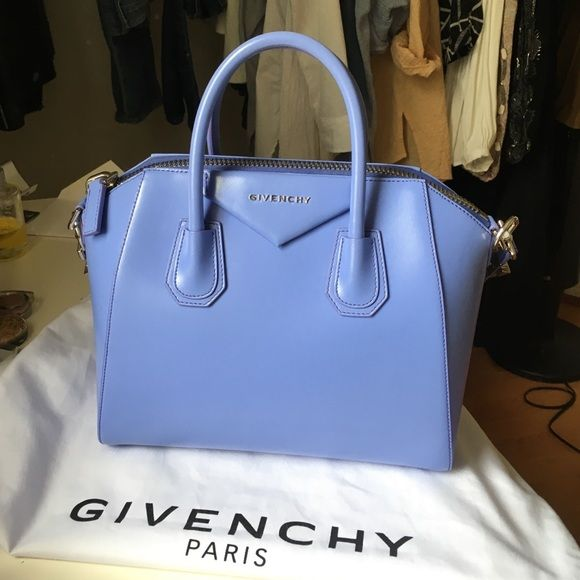 a95249badb AUTHENTIC Givenchy Antigona Small Smooth leather, short handle, dust bag,  bought this in the Las Vegas boutique, color code: LILAC 540, same color  that ...