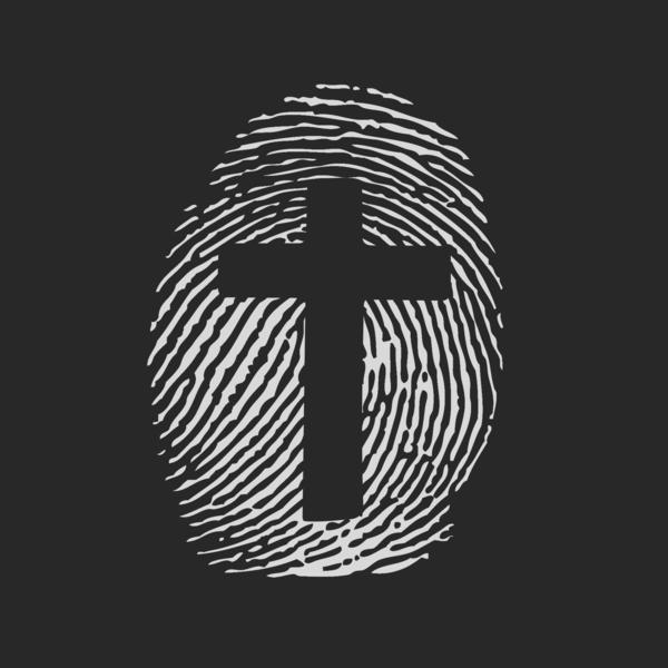 Cross Fingerprint Logo Design By Ranseyjoinerdesigns Cross Wallpaper Christian Posters The Cross Of Christ