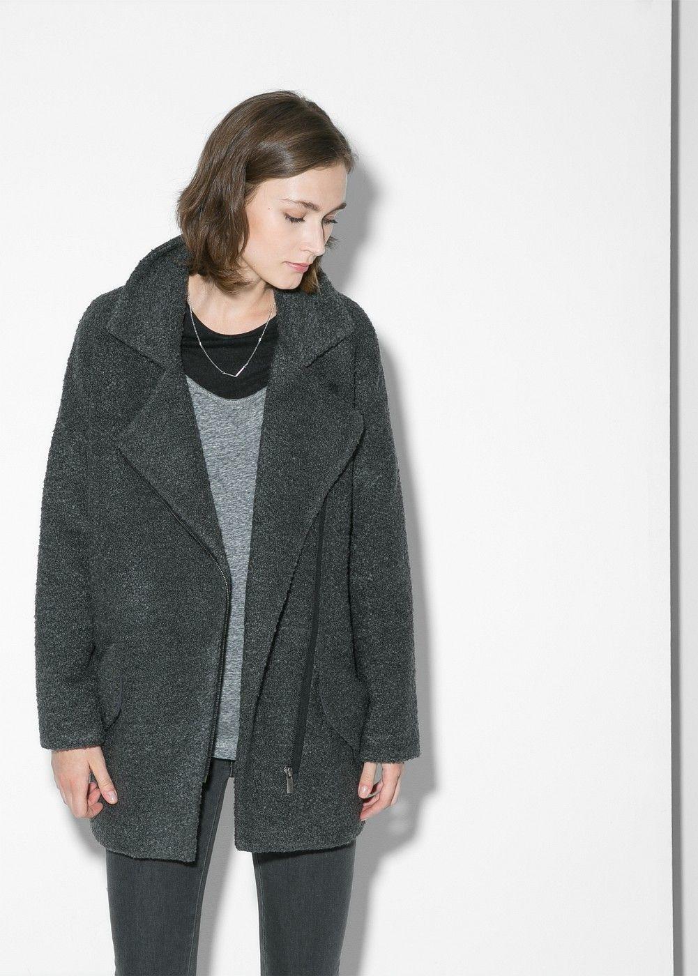 Παλτό oversize τουίντ | Tweed, Coats and Fade styles