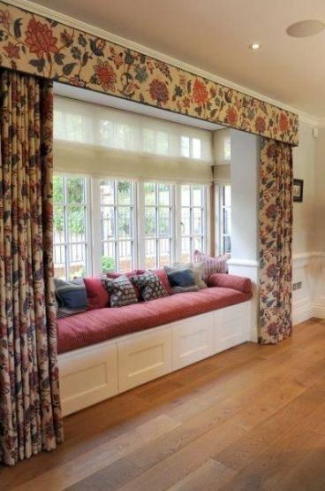 kitchen window seat curtains interior
