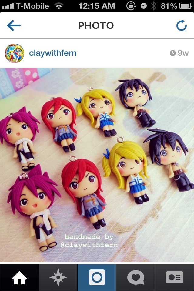 ☺polymer clay fairy tail chibis