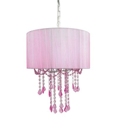 Tadpoles By Sleeping Partners 1 Bulb Shaded Chandelier In Pink