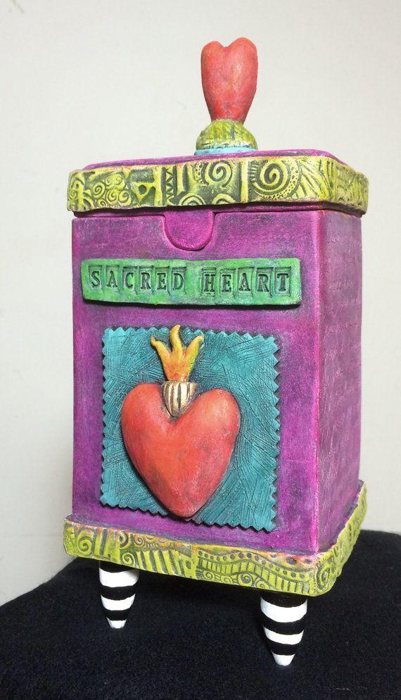Shrine Box  Ceramic clay sculptural box with by JuliaSpeerArt