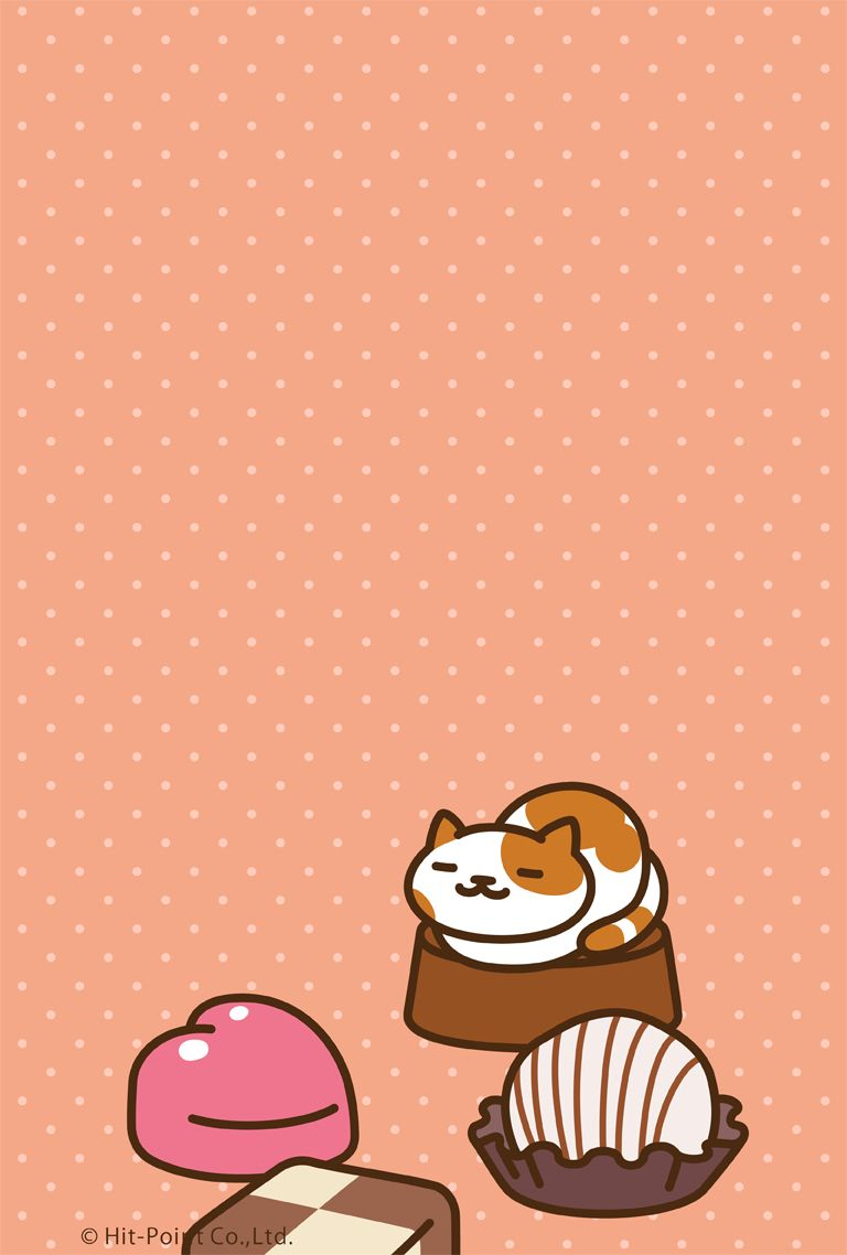 Neko Atsume Patches phone wallpaper