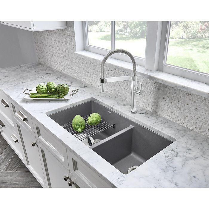 Precis 33 L X 18 W Double Basin Undermount Kitchen Sink In