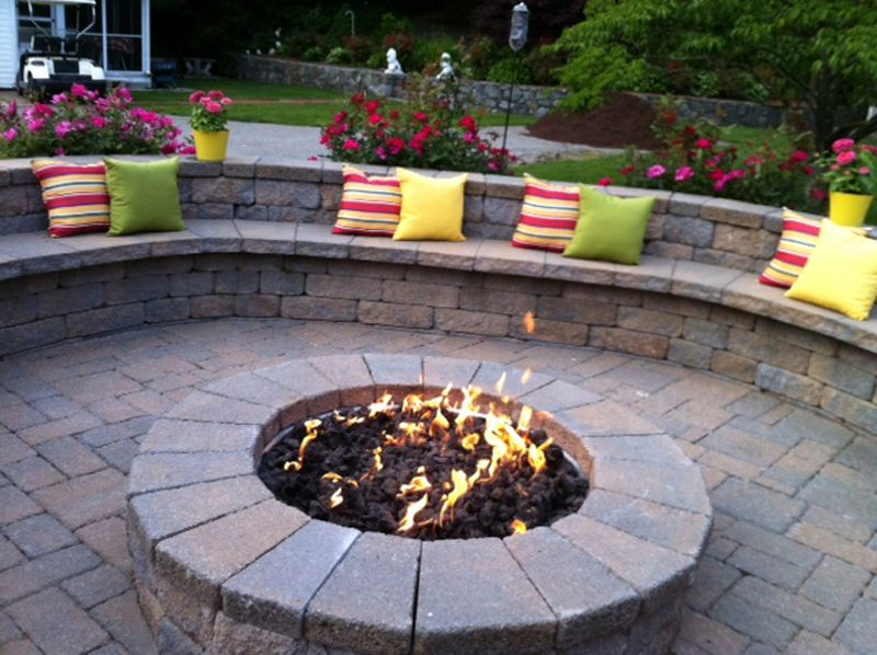 firepit with water feature for patios patio fire pits patio and fire pit design