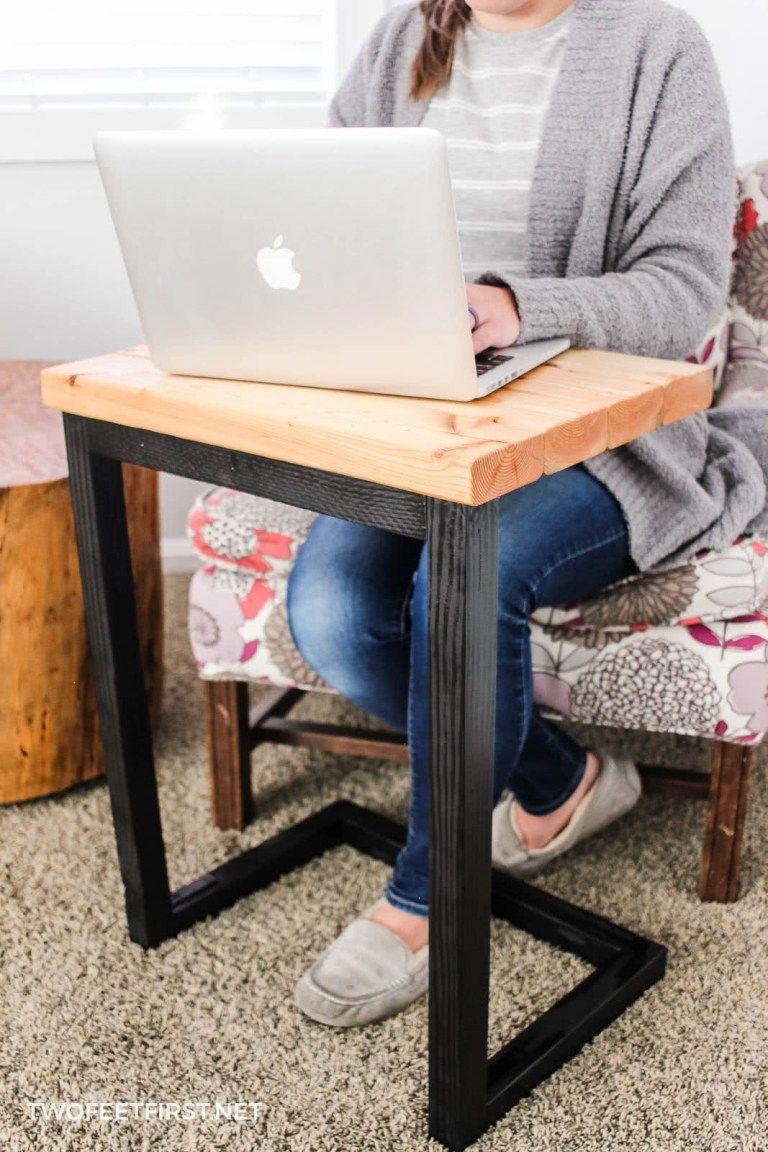 Diy Laptop Sofa Table A Great Gift Idea Diy Sofa Table Diy Sofa Diy Laptop