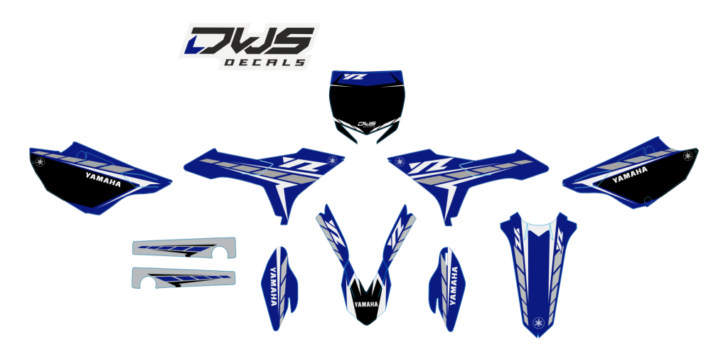 Complete Stickerset Yamaha YZ Revolution Rtech 125 250 2015 2016 Decals Dekor Design Graphics Aufklebe