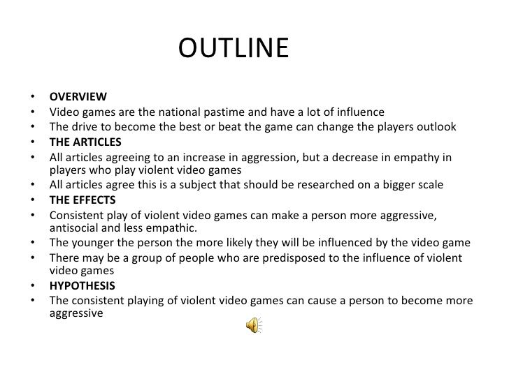 Persuasive essay on video games