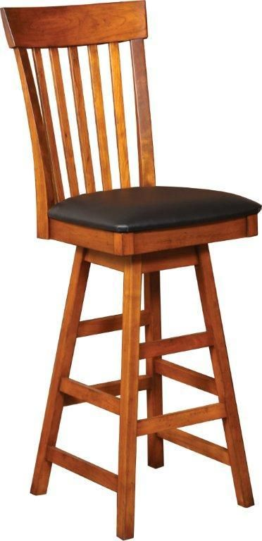 Amish Mansion Swivel Bar Stool Bar Stools Stools For Kitchen Island Oak Bar Stools