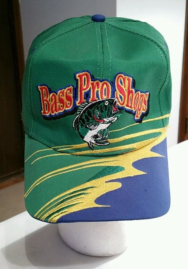 f4cbd020b95 Bass Pro Shops embroidered Snapback Cap Trucker Hat hunting fishing racing  Rare  BassProShops  Trucker